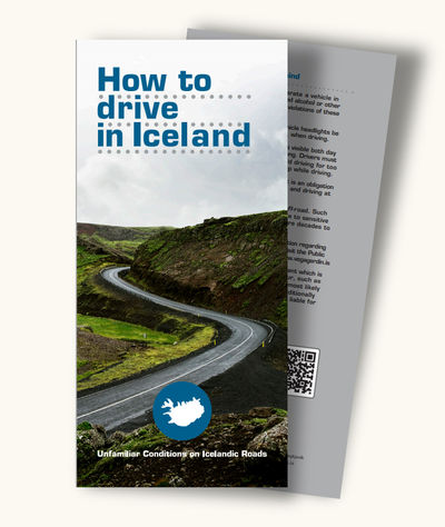 Brochure: Ho to drive in Iceland. Click on the picture to open the pdf file